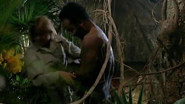 La brune baise avec les mecs dans le cul et la bouche dans film porno hamster les toilettes.